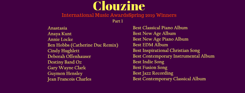 Clouzine International Music Awards 2017 Winners